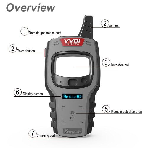 Original XHORSE VVDI MINI KEY TOOL Remote Key Programmer Latest V2.35 Global Version include(EU ME SE) for IOS & Android