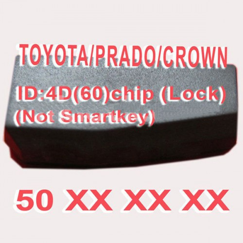 Toyota/Prado/Crown 4D (60) Duplicabel Chip 50xxx (Not Smart Key) 10pcs/lot
