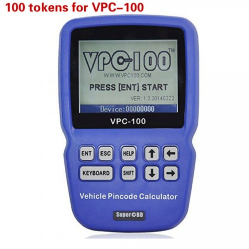 100 Tokens Add for VPC-100 Vehicle PinCode Calculator