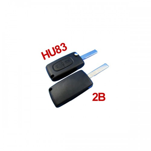 Remote Key HU83 2 Button 433MHZ(with groove) For Citroen