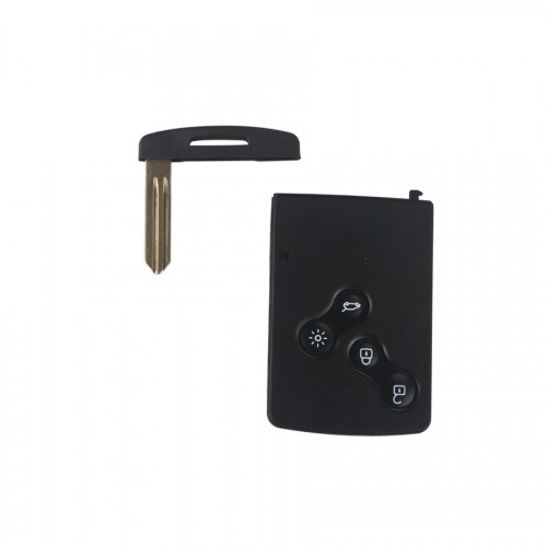 half smart remote key 4buttons 433 mhz PCF7941(After market) sliver logo for Renault Koleos