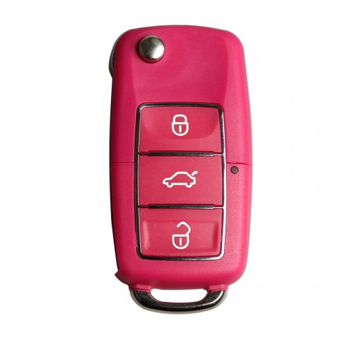 B5 Type Remote Key Shell 3 Buttons With Waterproof(Red) for Volkswagen 5pcs/lot
