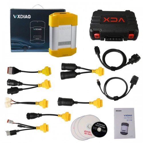 Best Quality Allscanner VXDIAG VCX HD Heavy Duty Truck Diagnostic System for CAT VOLVO HINO Cummins Nissan Free Shipping