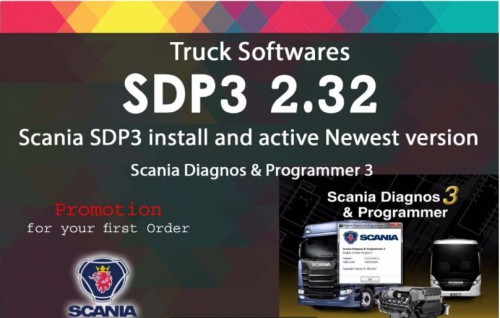 Newest SDP3 V2.32 Software for SCANIA VCI2 VCI3 without USB Dongle