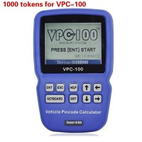 1000 Tokens Add for VPC-100 Vehicle PinCode Calculator
