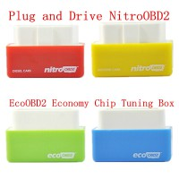 Plug and Drive NitroOBD2/EcoOBD2 Economy Chip Tuning Box for Benzine/Diesel Cars