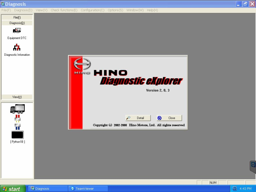 dearborn python for hino diagnostic explorer