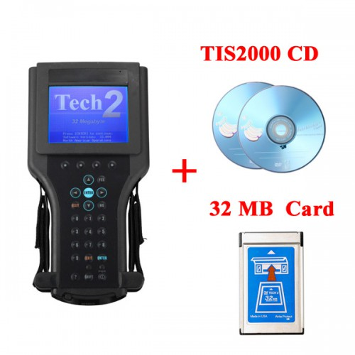 GM Tech2 Hand-held Diagnostic Scanner For GM/SAAB/Opel/Suzuki/Isuzu/Holden with TIS2000 Software