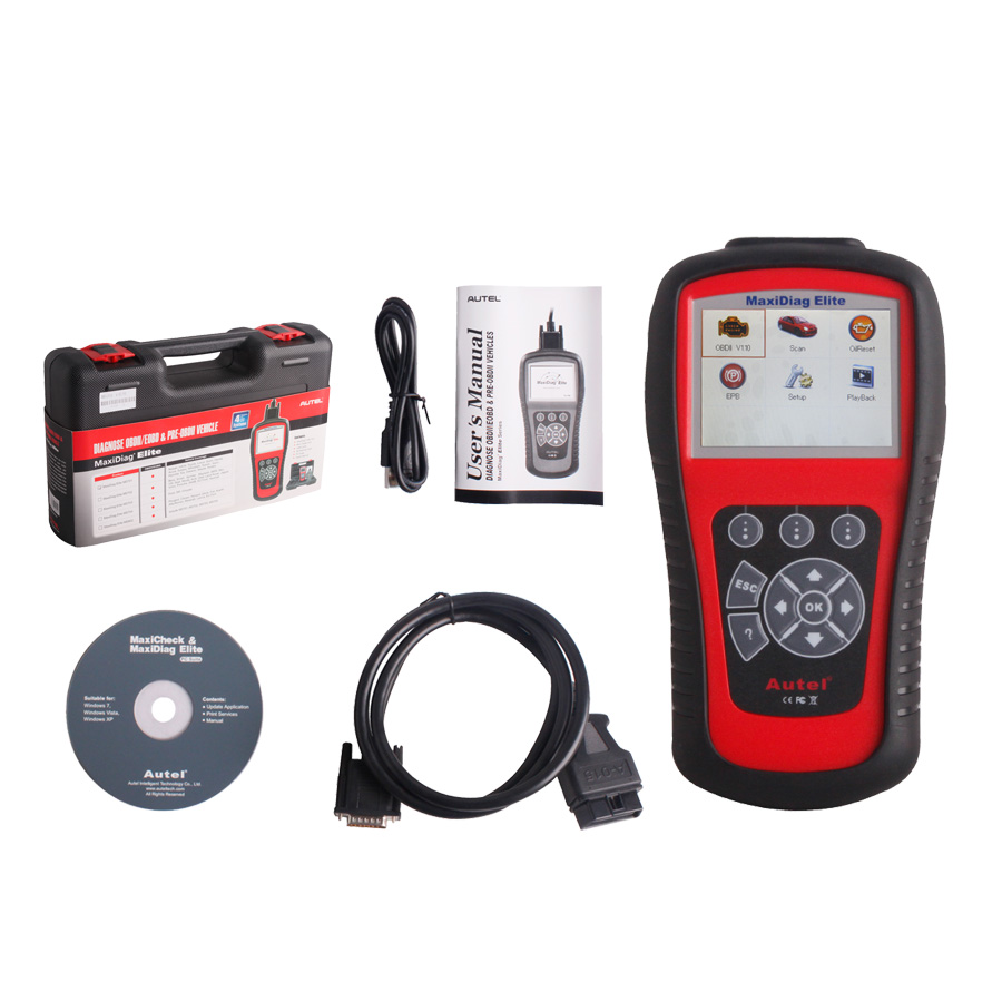 Autel Maxidiag Elite MD701 for 4 System Code Scanner DS Model with Data Stream Function