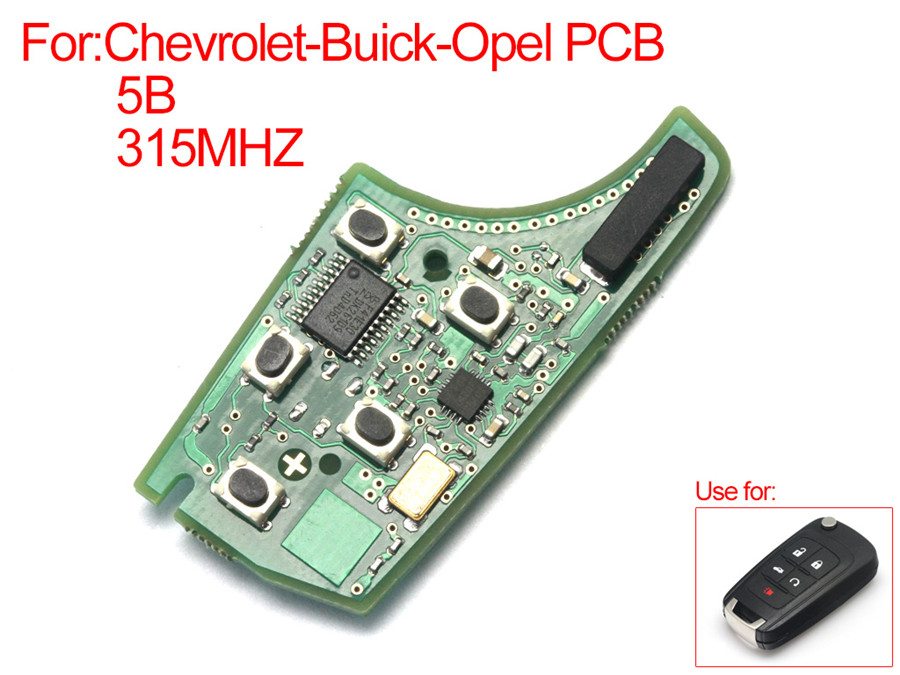 PCB 5 Button 315MHZ For Chevrolet Buick Opel