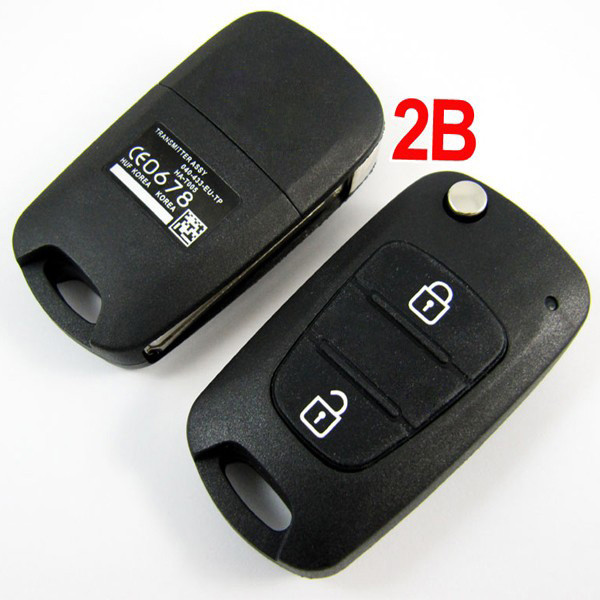 Modified Flip Remote Key Shell 2 button for Hyundai Verna 5pcs/lot