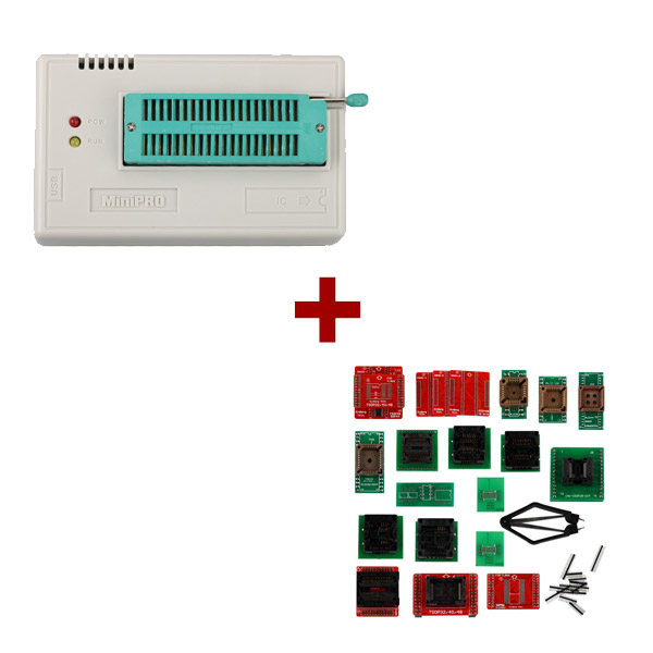 Mini Pro TL866A EEPROM Programmer Plus Full Set 21pcs Socket Adapters