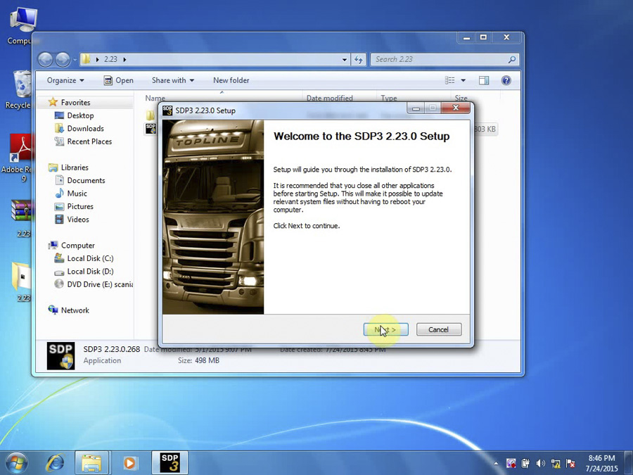 Newest SDP3 V2.27 Software for SCANIA VCI2 without USB Dongle