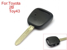 Side Face Remote Key Shell 2 buttons Easy to Cut Copper-nickel Alloy without Logo for Toyota 10pcs/Lot