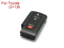 Remote key shell 2+1 Buttons for Toyota Prius