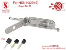 Super Auto Decoder and Pick Tools NSN14 10Pin(2015)