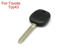 Transponder key shell TOY43 for Toyota 10pcs/Lot