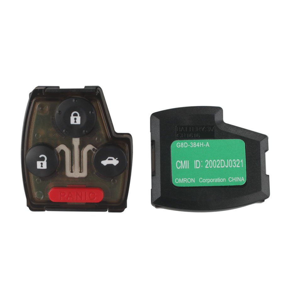 2005-2007 Remote Key (3+1) Button and Chip Separate ID46 (433 MHZ) For Honda