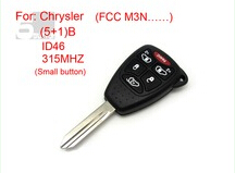 Chrysler remote key 5+1 button ID 46 315MHZ FCC M3N (Small button) 5pcs/Lot