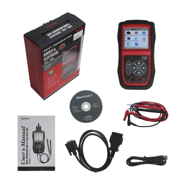 Original Autel AutoLink AL439 OBDII/CAN and Electrical Test Tool