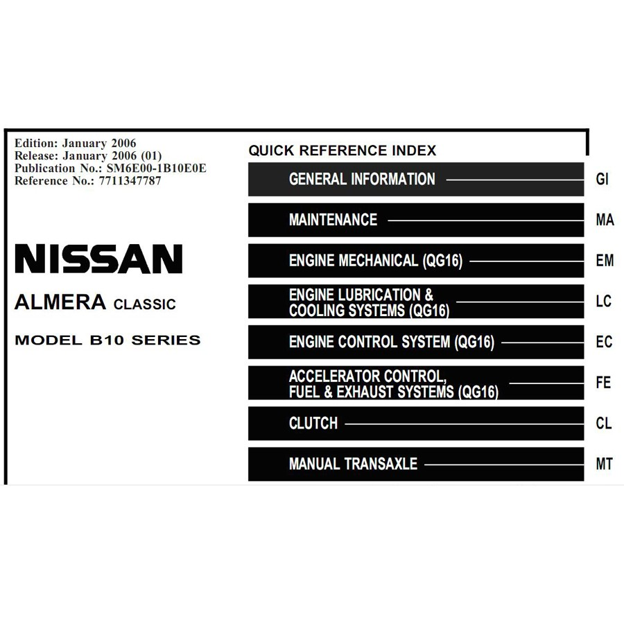 Nissan Repair Manuals