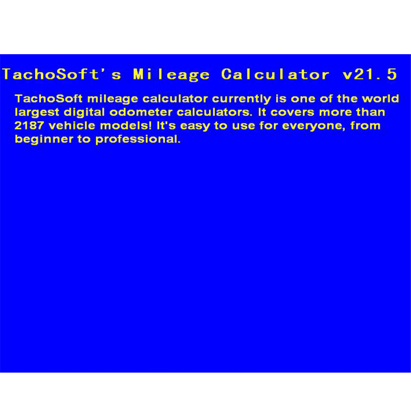 Hotsale New Tachosoft Mileage Calculator V21.5 Multi-vehicle