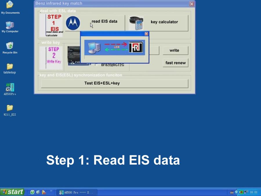 ak500pro Read EIS Data