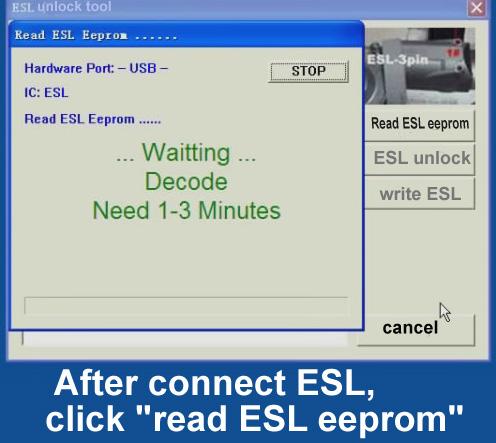 ak500pro Read ESL eeprom