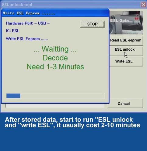 ak500pro Write ESL eeprom