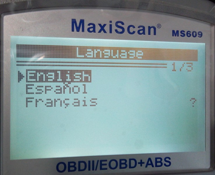 MaxiScan MS609 Scanner Display and Support Language 1