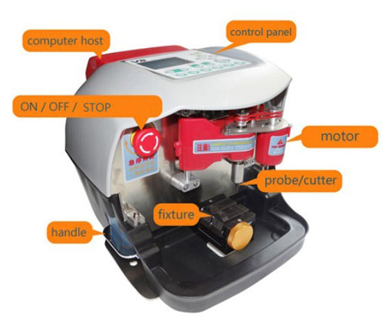 How to use Automatic V8/X6 Key Cutting Machine