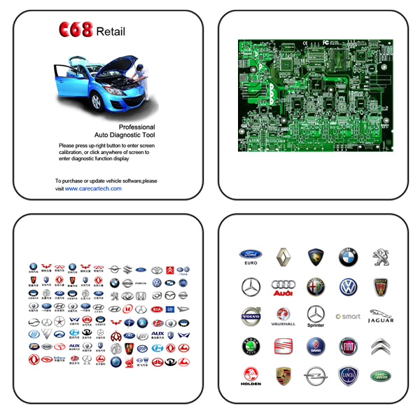 C68 Auto Diagnostic Tool User Manual & Support Language List