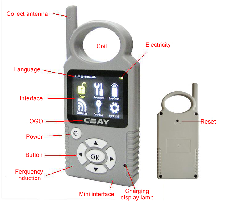 Car Key Programmer for TPX 4D/46/48 Chips User Manual