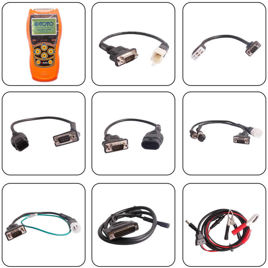 ED100 Motorcycle Scanner Package Display
