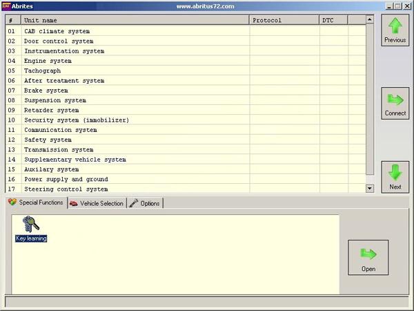 FVDI DAF Key Learning Function Display 1
