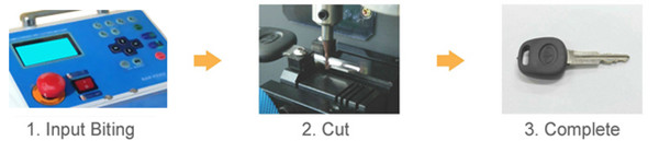 How to use Korea MIRACLE-A7 Key Cutting Machine 1