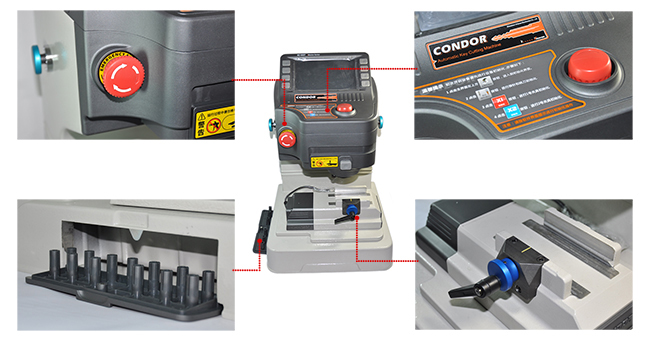 XC-007 Master Key Cutting Machine IKEYCUTTER Condor Display 1
