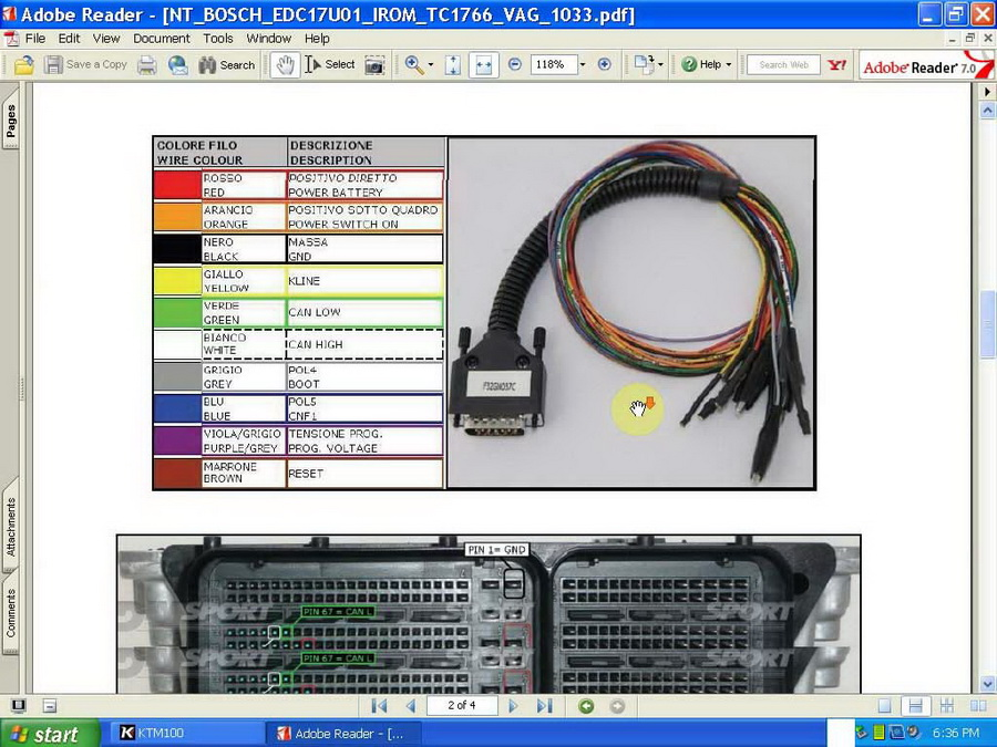Ktag K-tag KTM100 Master Version ECU Programmer Software Display