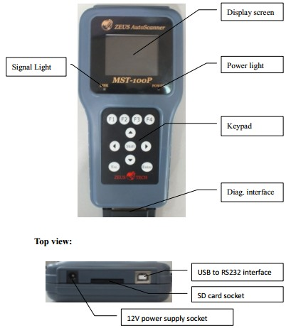 MST-100P 8 in 1 Motorcycle Scanner Display