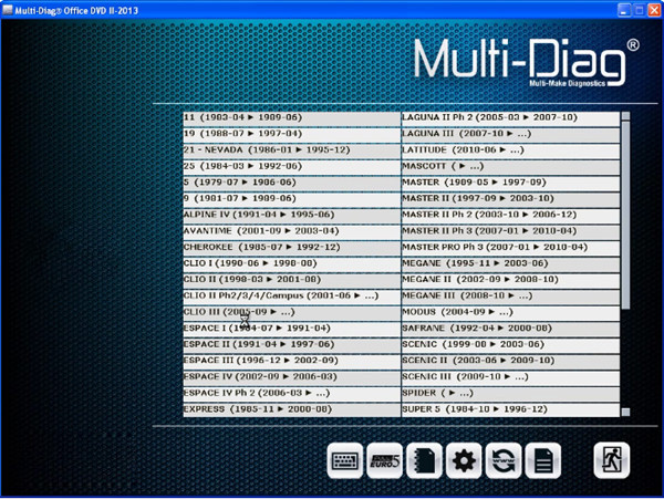 Newest 2013 II Multi-Di@g Access J2534 Pass-Thru OBD2 Device Software Display User Manual Free Download