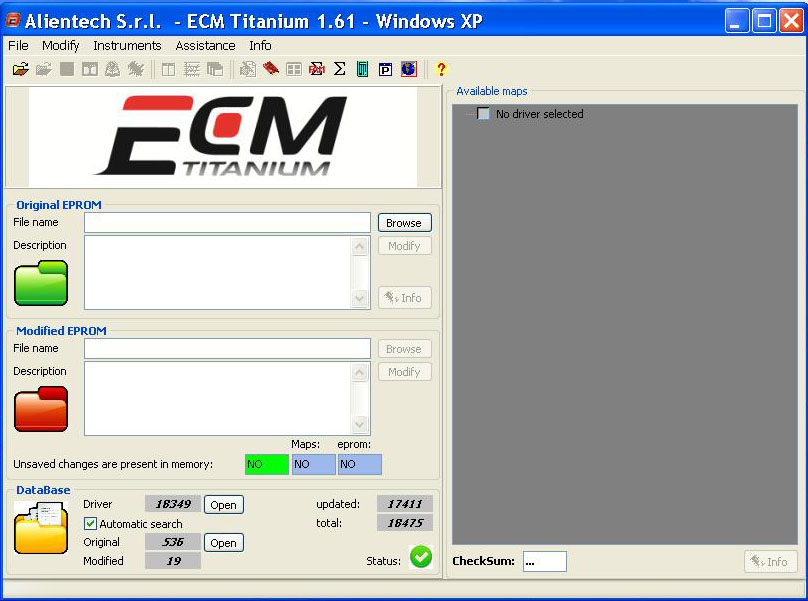 Alientech ECM TITANIUM 1.61 with 18475 Driver