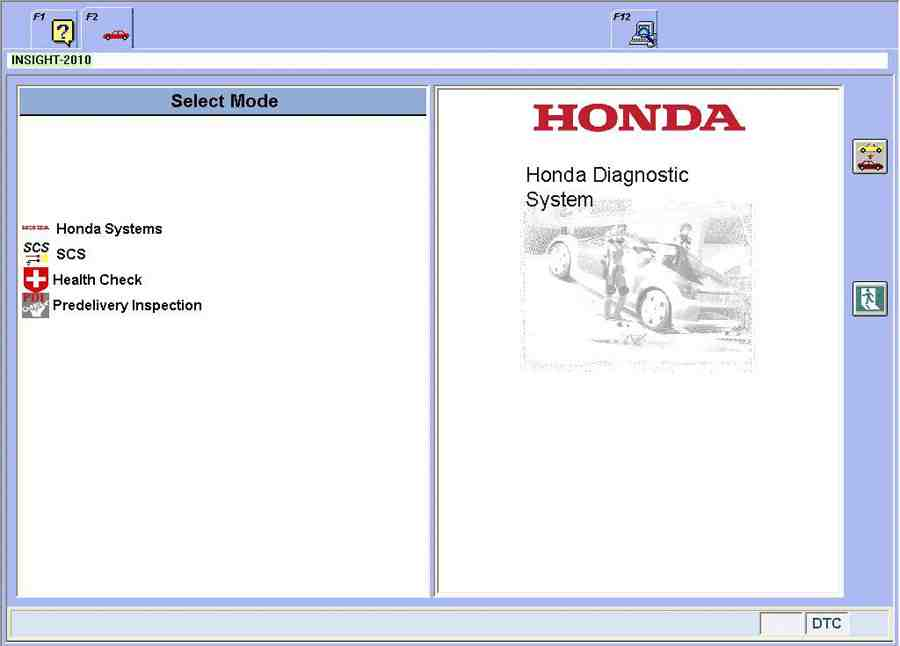Newest Honda HDS HIM Diagnostic Tool Software Display