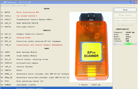 How to use BMW E/F Scanner BMW Explorer Prog for E F Series Coding