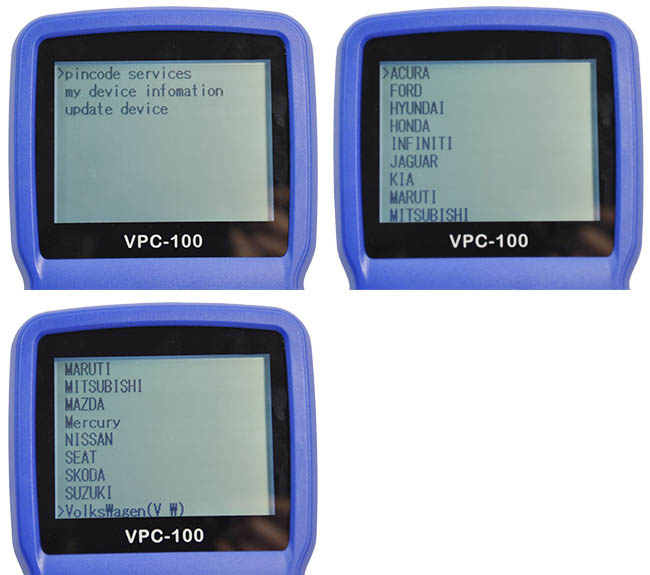 SuperOBD VPC-100 VPC100 Handheld Vehicle PinCode Calculator Device Display