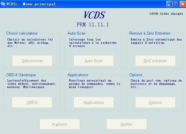 VAG VCDS 11.11 .1 French FR Version Software Display