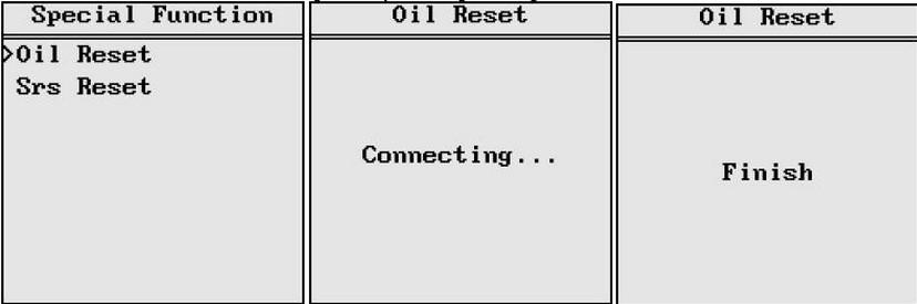 VAG401 oil reset