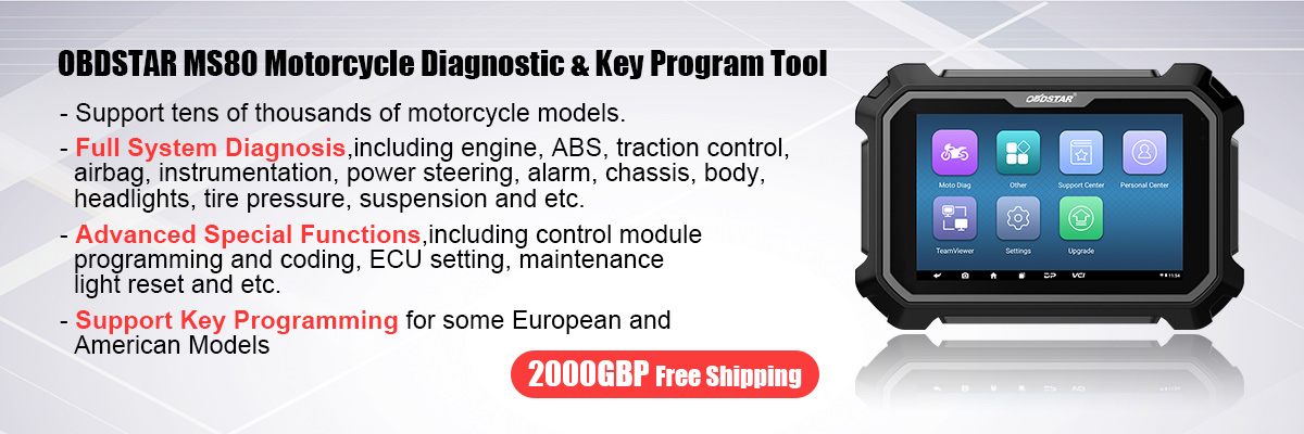 OBDSTAR MS80 Motorcycle Diagnostic and Key Program Tool