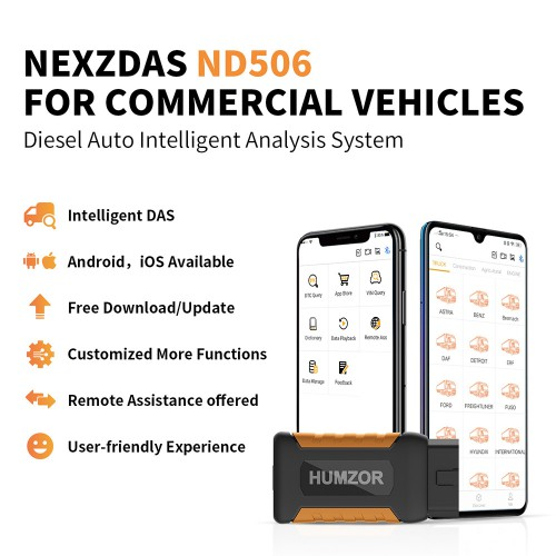 [Factory Promotion]Humzor NexzDAS ND506 Commercial Vehicles Diesel Auto Full System Intelligent Diagnosis Tool