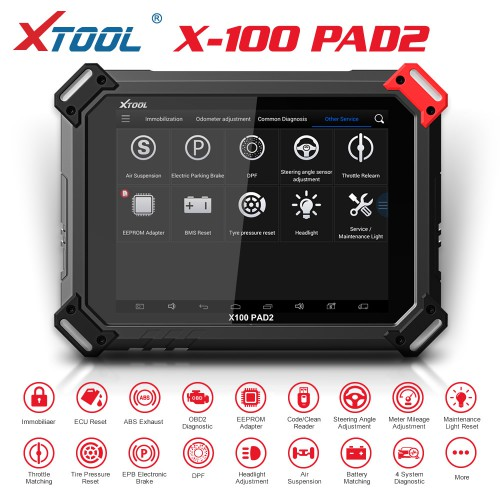 [Best Price][UK/EU Ship]Xtool X-100 PAD2 Tablet Key Programmer Full Version with KC100 Adapter Support VW 4th & 5th IMMO and Special Function