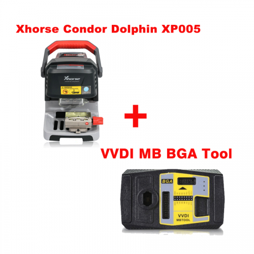 Xhorse Condor Dolphin XP005 Automatic Key Cutting Machine Plus VVDI MB Tool and 1 Year Unlimted Tokens